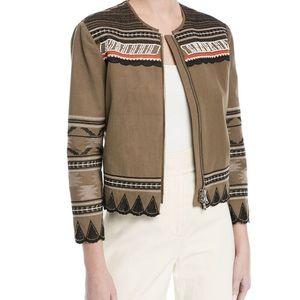 Veronica Beard Mirasol Zip Front Cotton Jacket XS